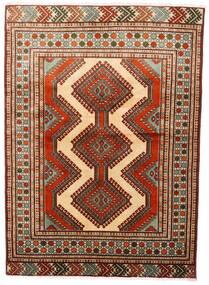 Turkaman Koberec 125X172 Orientální Ručně Tkaný Tmavě Červená/Tmavě Hnědá (Vlna, Persie/Írán)
