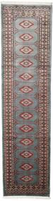 Pákistán Bokhara 2Ply Koberec 75X295 Orientální Ručně Tkaný Běhoun Tmavošedý/Černá (Vlna, Pákistán)