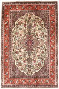 Tabriz Koberec 194X288 Orientální Ručně Tkaný Tmavě Hnědá/Světle Hnědá (Vlna, Persie/Írán)