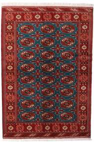 Turkaman Koberec 132X195 Orientální Ručně Tkaný Tmavě Červená/Černá (Vlna, Persie/Írán)