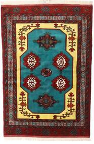Turkaman Koberec 138X200 Orientální Ručně Tkaný Tmavě Červená/Tmavě Hnědá (Vlna, Persie/Írán)