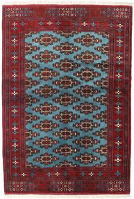 Turkaman Koberec 133X190 Orientální Ručně Tkaný Tmavě Červená/Modrá (Vlna, Persie/Írán)