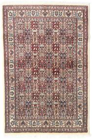 Moud Koberec 98X150 Orientální Ručně Tkaný Béžová/Světle Šedá (Vlna/Hedvábí, Persie/Írán)