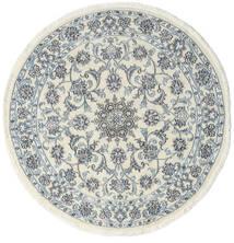 Nain Koberec Ø 140 Orientální Ručně Tkaný Oválný Béžová/Světle Modrý (Vlna, Persie/Írán)