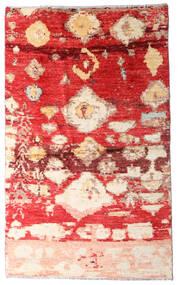 Moroccan Berber - Afghanistan Koberec 123X202 Moderní Ručně Tkaný Červenožlutá/Tmavě Červená (Vlna, Afghánistán)