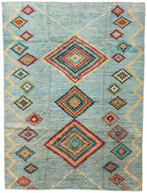 Moroccan Berber - Afghanistan Koberec 203X274 Moderní Ručně Tkaný Světle Šedá/Tyrkysově Modré (Vlna, Afghánistán)