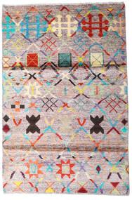 Moroccan Berber - Afghanistan Koberec 119X177 Moderní Ručně Tkaný Béžová/Tmavošedý (Vlna, Afghánistán)