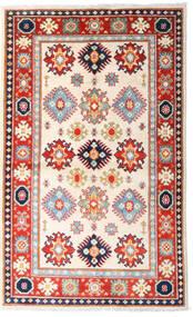 Kazak Koberec 93X152 Orientální Ručně Tkaný Béžová/Světle Růžová (Vlna, Afghánistán)