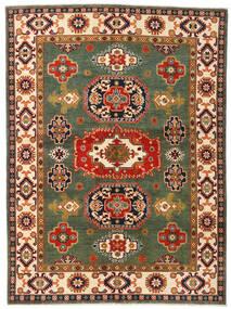 Kazak Koberec 155X211 Orientální Ručně Tkaný Tmavě Zelený/Červená (Vlna, Afghánistán)
