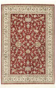 Herike Ch Koberec 124X186 Orientální Ručně Tkaný Tmavě Červená/Béžová (Hedvábí, Čína)