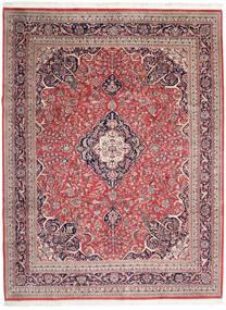 Keshan Indické Koberec 278X365 Orientální Ručně Tkaný Béžová/Tmavě Červená Velký (Vlna, Indie)