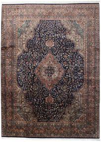 Keshan Indické Koberec 255X345 Orientální Ručně Tkaný Tmavě Hnědá/Tmavě Modrý Velký (Vlna, Indie)