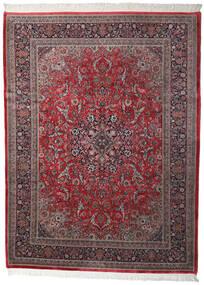 Keshan Indické Koberec 250X335 Orientální Ručně Tkaný Tmavě Hnědá/Tmavě Červená Velký (Vlna, Indie)