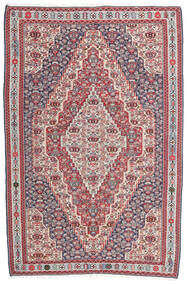 Kelim Senneh Koberec 148X225 Orientální Ruční Tkaní Tmavošedý/Světle Šedá (Vlna, Persie/Írán)