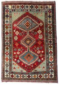 Ghashghai Koberec 136X197 Orientální Ručně Tkaný Tmavě Červená/Tmavošedý (Vlna, Persie/Írán)