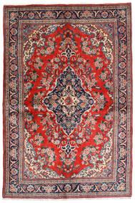 Sarough Sherkat Farsh Koberec 141X212 Orientální Ručně Tkaný Tmavošedý/Červenožlutá (Vlna, Persie/Írán)