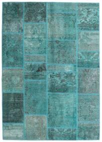 Patchwork - Persien/Iran Koberec 140X200 Moderní Ručně Tkaný Tyrkysově Modré/Tyrkysově Modré (Vlna, Persie/Írán)