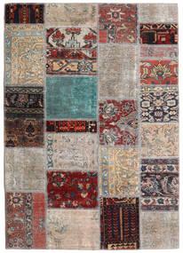 Patchwork - Persien/Iran Koberec 141X198 Moderní Ručně Tkaný Světle Šedá/Tmavě Hnědá (Vlna, Persie/Írán)