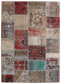 Patchwork - Persien/Iran Koberec 141X198 Moderní Ručně Tkaný Světle Šedá/Tmavě Červená (Vlna, Persie/Írán)