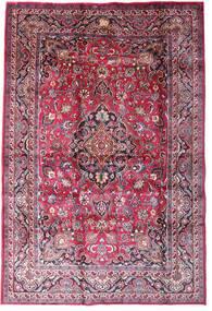 Mašhad Koberec 198X290 Orientální Ručně Tkaný Tmavě Fialová/Světle Růžová (Vlna, Persie/Írán)