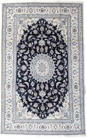 Nain Koberec 197X313 Orientální Ručně Tkaný Světle Šedá/Černá (Vlna, Persie/Írán)