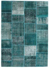 Patchwork - Persien/Iran Koberec 165X233 Moderní Ručně Tkaný Tmavý Turquoise/Tyrkysově Modré (Vlna, Persie/Írán)