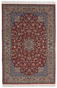 Isfahan Sherkat Farsh Koberec 200X300 Orientální Ručně Tkaný Tmavě Červená/Tmavě Hnědá (Vlna/Hedvábí, Persie/Írán)