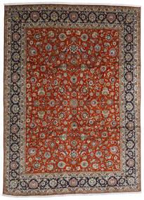 Tabriz Koberec 280X384 Orientální Ručně Tkaný Tmavě Červená/Tmavě Hnědá Velký (Vlna, Persie/Írán)