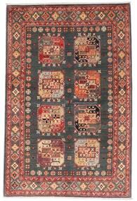 Kazak Koberec 118X179 Orientální Ručně Tkaný Tmavě Červená/Tmavošedý (Vlna, Afghánistán)
