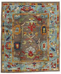 Kazak Koberec 244X290 Orientální Ručně Tkaný Hnědá/Světle Šedá (Vlna, Afghánistán)