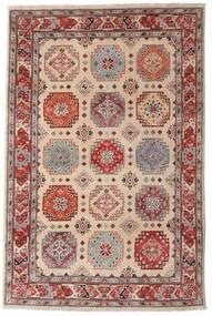 Kazak Koberec 118X179 Orientální Ručně Tkaný Tmavě Hnědá/Světle Šedá (Vlna, Afghánistán)