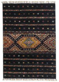 Shabargan Koberec 87X124 Moderní Ručně Tkaný Černá/Tmavošedý (Vlna, Afghánistán)