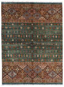 Shabargan Koberec 180X240 Moderní Ručně Tkaný Černá/Tmavě Zelený (Vlna, Afghánistán)