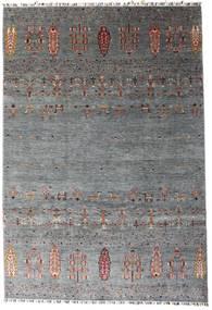 Shabargan Koberec 207X303 Moderní Ručně Tkaný Tmavošedý/Modrá (Vlna, Afghánistán)