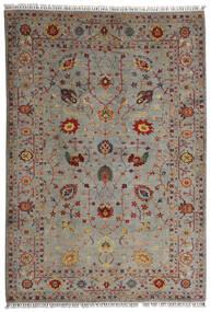 Shabargan Koberec 208X304 Moderní Ručně Tkaný Světle Šedá/Světle Hnědá (Vlna, Afghánistán)