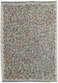 Kelim Afghán Old Style Koberec 169X234 Orientální Ruční Tkaní Světle Šedá/Tmavošedý (Vlna, Afghánistán)