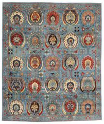 Kazak Koberec 246X294 Orientální Ručně Tkaný Tmavě Červená/Modrá (Vlna, Afghánistán)