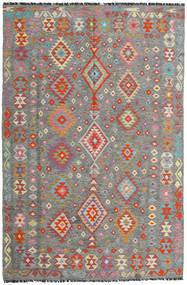 Kelim Afghán Old Style Koberec 198X301 Orientální Ruční Tkaní Tmavošedý/Světle Šedá (Vlna, Afghánistán)