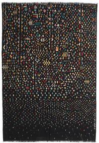 Kelim Moderní Koberec 195X286 Moderní Ruční Tkaní Černá/Tmavošedý (Vlna, Afghánistán)