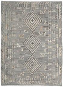 Kelim Ariana Koberec 216X285 Moderní Ruční Tkaní Světle Šedá/Tmavošedý (Vlna, Afghánistán)