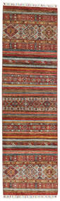 Shabargan Koberec 85X296 Moderní Ručně Tkaný Běhoun Tmavě Hnědá/Červená (Vlna, Afghánistán)