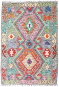Kelim Afghán Old Style Koberec 86X124 Orientální Ruční Tkaní Světle Šedá (Vlna, Afghánistán)