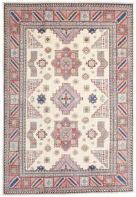 Kazak Koberec 211X306 Orientální Ručně Tkaný Béžová/Světle Šedá (Vlna, Afghánistán)