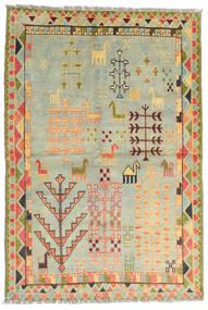 Moroccan Berber - Afghanistan Koberec 100X200 Moderní Ručně Tkaný Světle Šedá/Tmavá Béžová/Světle Zelená (Vlna, Afghánistán)