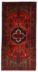 Hamedan Koberec 109X218 Orientální Ručně Tkaný Tmavě Hnědá/Červenožlutá (Vlna, Persie/Írán)