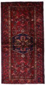Hamedan Koberec 102X199 Orientální Ručně Tkaný Tmavě Červená (Vlna, Persie/Írán)