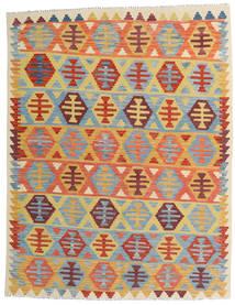 Kelim Afghán Old Style Koberec 157X202 Orientální Ruční Tkaní Tmavá Béžová/Světle Modrý (Vlna, Afghánistán)