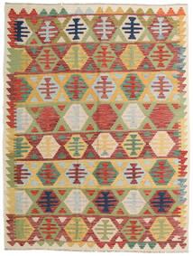 Kelim Afghán Old Style Koberec 156X203 Orientální Ruční Tkaní Tmavě Červená/Světle Zelená (Vlna, Afghánistán)