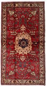 Hamedan Koberec 106X200 Orientální Ručně Tkaný Tmavě Červená/Tmavě Hnědá (Vlna, Persie/Írán)