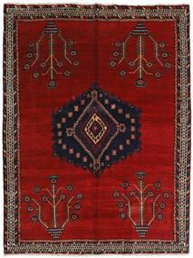Afshar Koberec 157X209 Orientální Ručně Tkaný Tmavě Červená/Červená (Vlna, Persie/Írán)